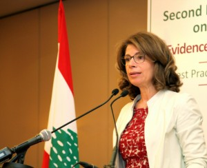 Mrs Lama Salam Attends the LAU Conference at Movenpick Hotel 2
