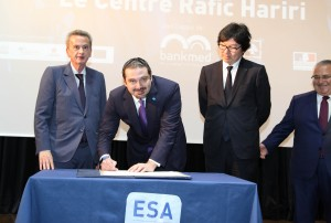Former Pr Minister Saad Hariri Inaugurates the Rafic Hariri Building at ESA 6