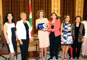 Mrs Lamam Salam meets a Delegation of Arab Lebanese Busnisswomen 1