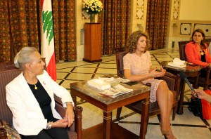 Mrs Lamam Salam meets a Delegation of Arab Lebanese Busnisswomen