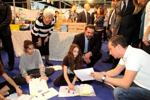 Pr Minister Designated Saad Hariri Visits the Book Fair at Biel 3