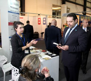 Pr Minister Designated Saad Hariri Visits the Book Fair at Biel 6