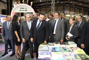 Pr Minister Designated Saad Hariri Visits the Book Fair at Biel 7