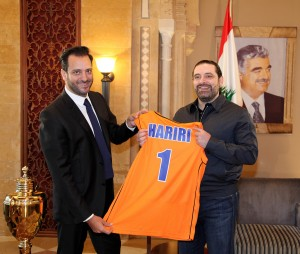 Pr Minister Designated Saad Hariri meets a Delegation of Homentmen Club 1