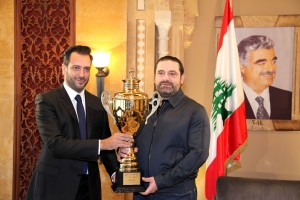 Pr Minister Designated Saad Hariri meets a Delegation of Homentmen Club