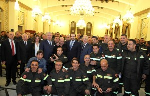 Pr Minister Saad Hariri meets a Delegation of Civil Defence
