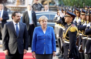 Pr Minister Saad Hariri Receiving Chancellor Angela Merkel at the Grand Serail 1