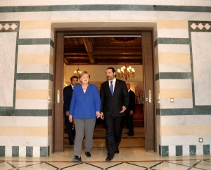 Pr Minister Saad Hariri Receiving Chancellor Angela Merkel at the Grand Serail 10