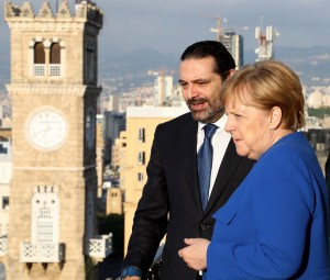 Pr Minister Saad Hariri Receiving Chancellor Angela Merkel at the Grand Serail 3