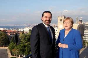 Pr Minister Saad Hariri Receiving Chancellor Angela Merkel at the Grand Serail 5