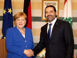 Pr Minister Saad Hariri Receiving Chancellor Angela Merkel at the Grand Serail 9