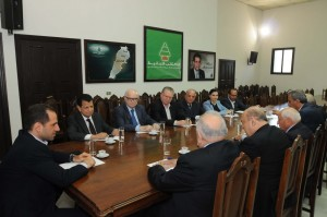 Head of Kataeb Party MP Sami Gemayel Meets a Delegation From Beirut Families 1