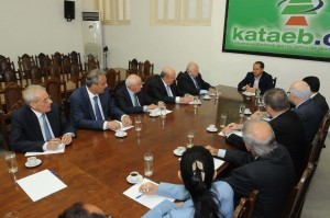 Head of Kataeb Party MP Sami Gemayel Meets a Delegation From Beirut Families 2