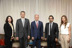 Minister Achraf Rifi Meet Mr Martin Kreutner Dean of the International Anti-Corruption Academy 1