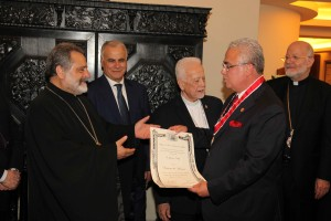 Bishop Chedraoui Honoring Mr Ghassan Skaff 4