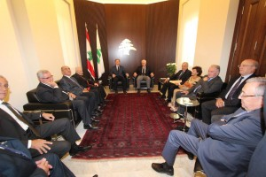 Former President Amine Gemayel Meets a Delegation From Kornet Chehwan 4