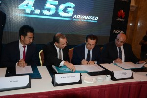 Minister Boutros Harb Sponsors The Official Signing Ceremony of the Fourth Generation Network in Both 4,5G Advanced Lebanon in Partnership with Huawei and Nokia 1