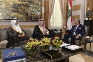 Minister Nouhad El Machnouk Meets Saudi Minister of State for Arabian Gulf Affairs Thamer Sabhan 3