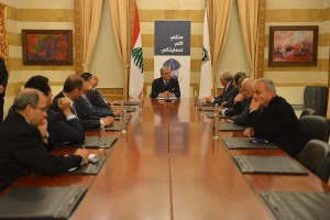 Minister Nouhad El Machnouk Meets a Delegation From The Lebanese Saudi Buisness Council 1