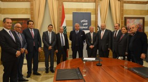 Minister Nouhad El Machnouk Meets a Delegation From The Lebanese Saudi Buisness Council 2