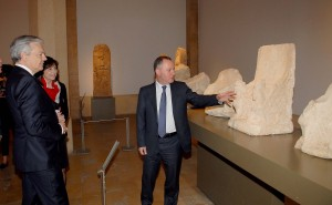 Minister Raymond Araiji & Belgium Minister of Foreign Affairs Tour at The National Musuem 1