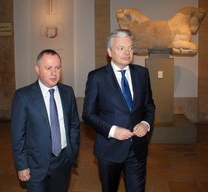 Minister Raymond Araiji & Belgium Minister of Foreign Affairs Tour at The National Musuem 2