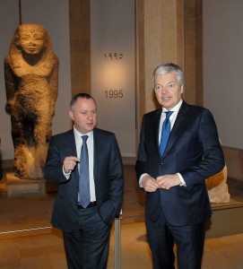Minister Raymond Araiji & Belgium Minister of Foreign Affairs Tour at The National Musuem 3