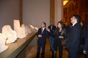 Minister Raymond Araiji & Italian Pr Minister Tour at The National Musuem 2