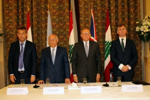 Pr Minister Tammam Salam Attends a Workshop at The Grand Serail ( Risks & Resource Maps ) 3