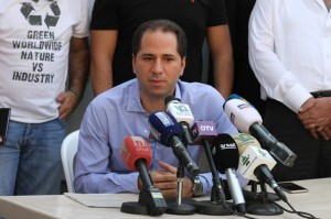 Press Conference For Head of Kataeb Party MP Sami Gemayel 4
