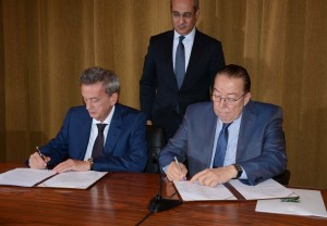 Signing Agreement Between Minister Mohamad El Machnouk & Head of Central Bank Dr Riyad Saleme 3