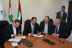 Signing Agreement Between Minister Wael Abou Faour & Emirates Ambassador 1 - Copy
