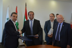 Signing Agreement Between Minister Wael Abou Faour & Emirates Ambassador 2 - Copy