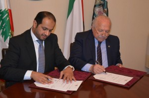 Signing Agreement Between Minister Wael Abou Faour & Emirates Ambassador 3 - Copy