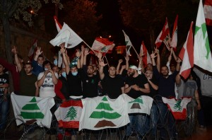 Sit-in Outside The Grand Serail Organized By The Kataeb Party Students 2