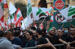 Sit-in Outside The Grand Serail Organized By The Kataeb Party Students 3