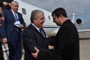 Tunisian Minister of Interior Al Hadi Majdoub Receiving Minister Nouhad El Machnouk at The Airport 1