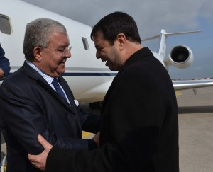 Tunisian Minister of Interior Al Hadi Majdoub Receiving Minister Nouhad El Machnouk at The Airport 2
