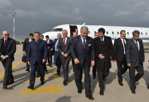 Tunisian Minister of Interior Al Hadi Majdoub Receiving Minister Nouhad El Machnouk at The Airport 3