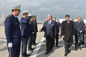 Tunisian Minister of Interior Al Hadi Majdoub Receiving Minister Nouhad El Machnouk at The Airport 4