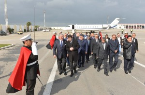 Tunisian Minister of Interior Al Hadi Majdoub Receiving Minister Nouhad El Machnouk at The Airport 5