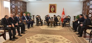 Tunisian Minister of Interior Al Hadi Majdoub Receiving Minister Nouhad El Machnouk at The Airport 8